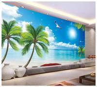 3d wallpaper Custom 3d wall murals wallpaper The Mediterranean landscape setting wall decoration coconut trees wallpaper