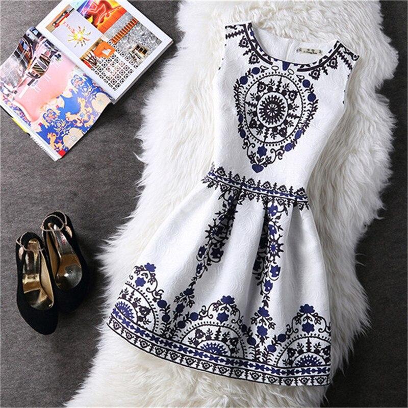 Verfalin Fashion Summer Women Party Casual Dresses 2017 Hot Elegant Vestidos 15 Type Different European Style Print Vest Dresses