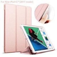 For IPad 9 7 Soft TPU Edge Hard Back Cover Leather Case For IPad 9 7