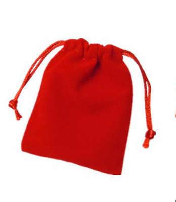Bolsas de franela de alta calidad de regalo de embalaje bolsa de terciopelo negro bolsas de joyería caja de joyería al por mayor 7*9