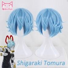 【AniHut】Tomura Shigaraki פאת קוספליי Boku לא גיבור אקדמיה פאה סינטטי שיער שלי גיבור אקדמיה Shigaraki קוספליי אנימה שיער