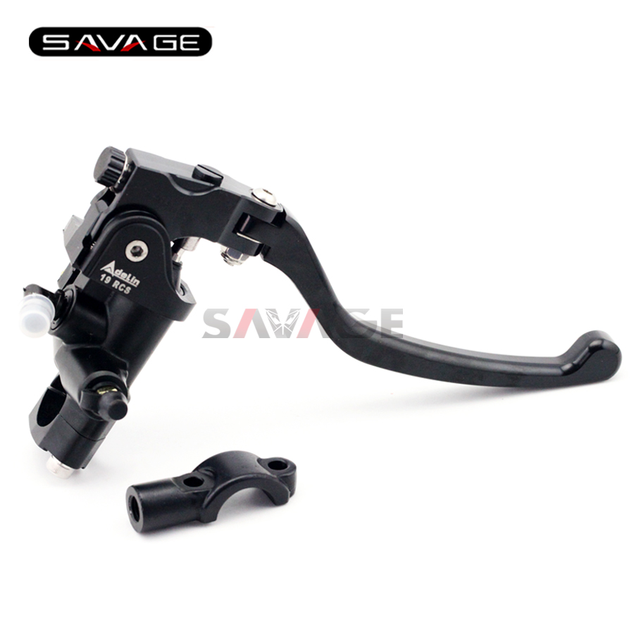 Universal 7/8 22mm Motorcycle Front Brake Master Cylinder Levers with Bar Clamp universal brake master cylinder levers 7 8 22mm motorcycle brake clutch master cylinder reservoir levers set black new