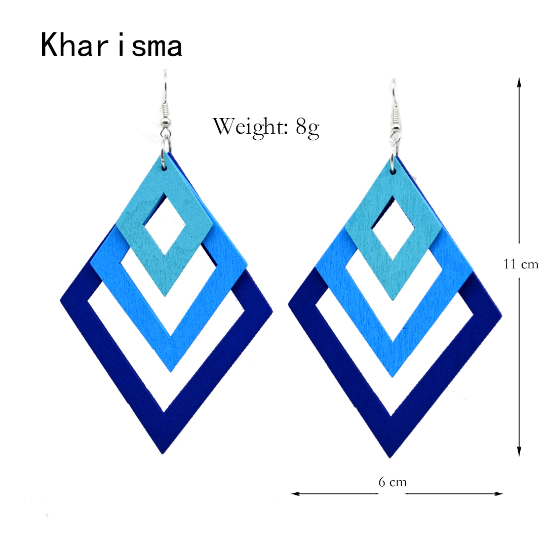 HTB1.lAoV4naK1RjSZFBq6AW7VXam - KHARISMA Fashion Blue Multi-layer Wooden Hollow Statement Drop Earrings Ethnic Boho Long Pendant Dangle Earrings For Women Lady