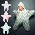 2016 new arrival popular saco de dormir do bebê recém-nascido swaddling cobertores de inverno bebe meninos meninas bonito estrelas do mar sacos de dormir roupas