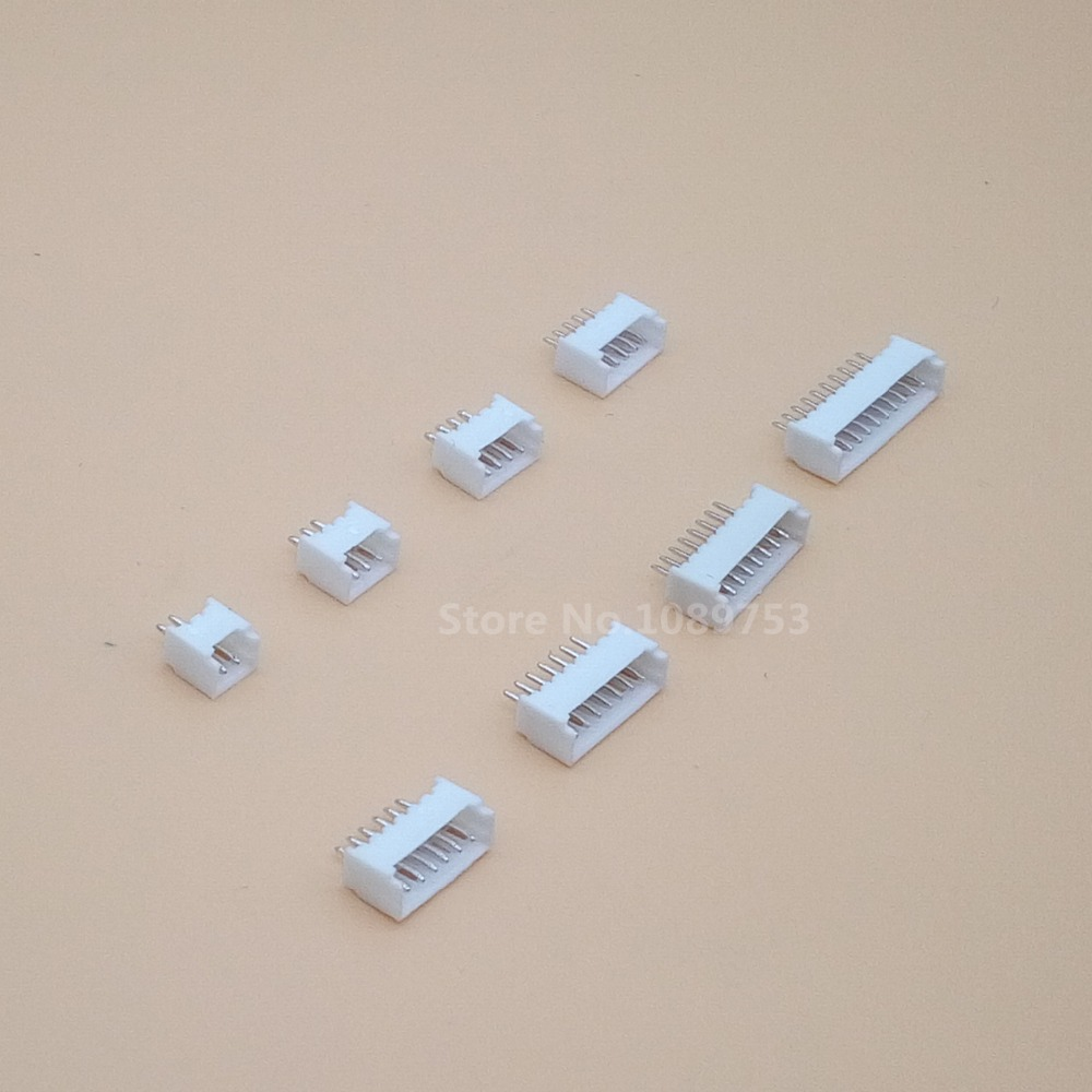50pcs MICRO JST Connector 1.25MM Pitch Pin Header 2P/3P/4P/5P/6P/7P/8P/9P/10P Straight Needle FOR PCB BOARD 1.25
