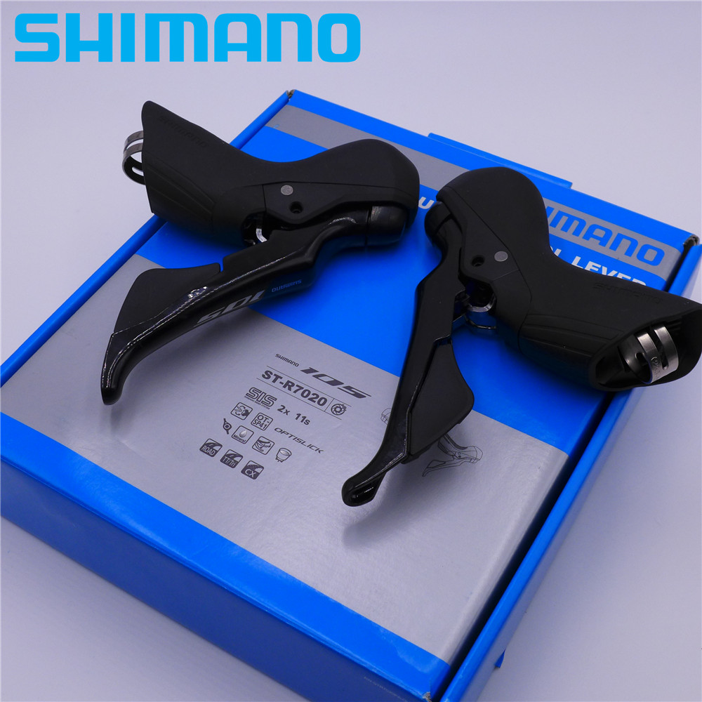 SHIMANO 105 R7020 22 Speed Shifter Road Bike CX Hydraulic Disc Shift Brake Levers Set ST-R7020 Dual Control R7000 Series 105 st 5800 2 x 11 speed brake shift bike dual control lever 1 pair