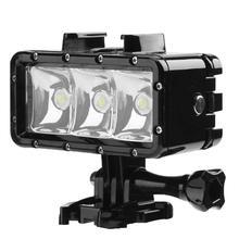 30 м Водонепроницаемый Дайвинг Свет 2.8 Вт 3LED подводный лампа видео DSRL Камера Заполните свет для GoPro 4 3 2 SJCAM sj400 Xiaomi Yi