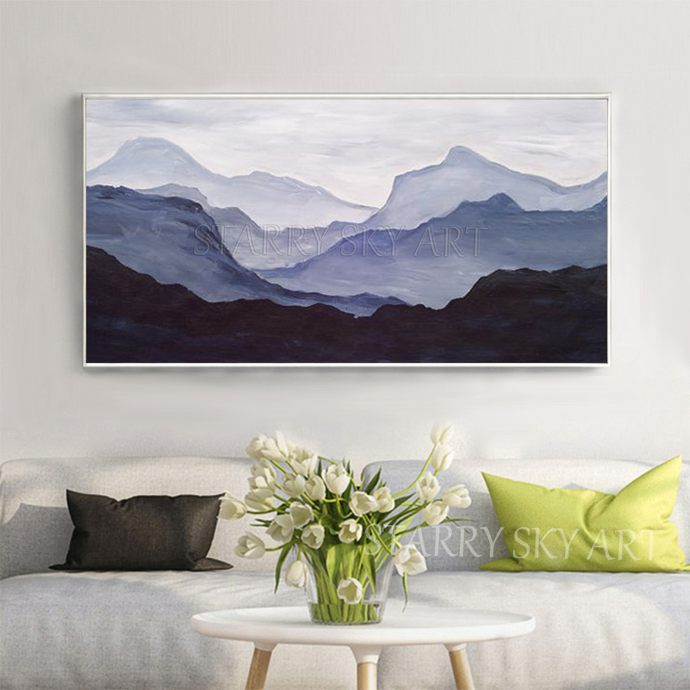 Us 24 4 50 Off New Painting Hand Painted Wall Art Abstract Mountains Oil Painting For Living Room Special Art Mountain Landscape Oil Painting In