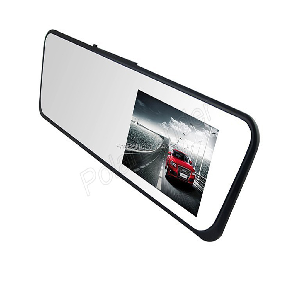 Car dvr mirror H701 Support GPS TF card View Cam 4.3 inch TFT LCD screen touch Full HD1080P waterproof Car Dvr lens 120 degree
