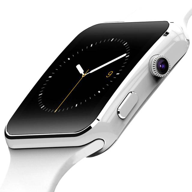 Moda Preto Do Esporte Do Bluetooth Relógio Inteligente Para Android Phone Call SIM Card Inteligente Relógios 1.54 ''HD LCD OGS Toque tela