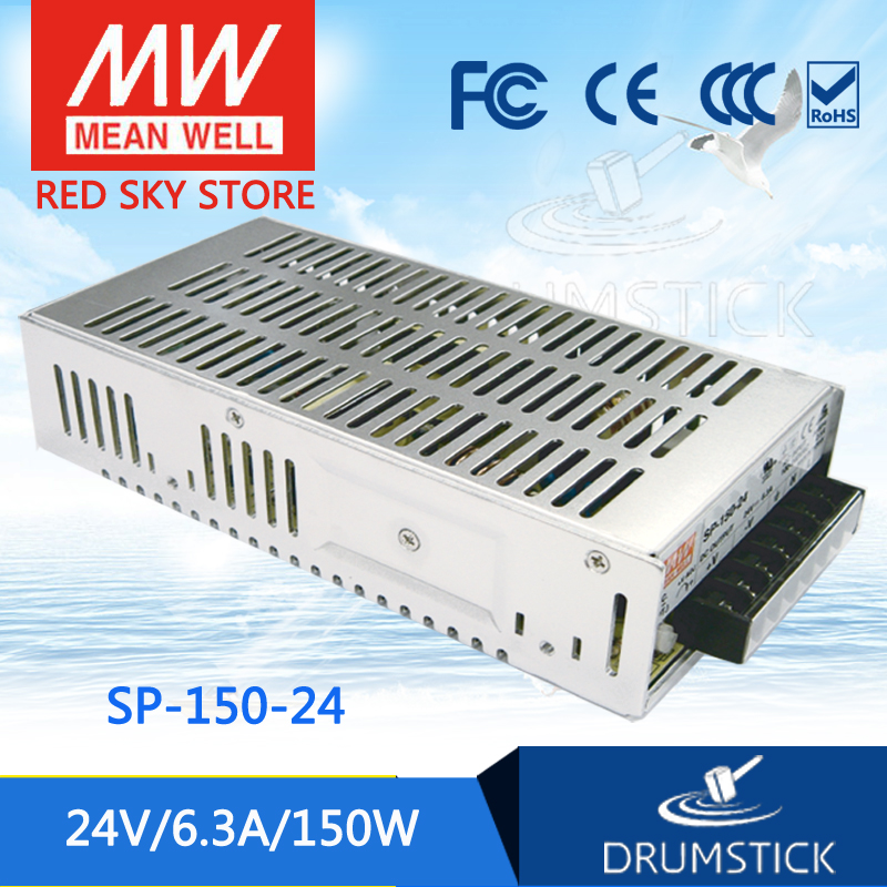 Selling Hot MEAN WELL original SP-150-24 24V 6.3A meanwell SP-150 24V 150W Single Output with PFC Function Power Supply aaa mean well original sp 320 24 24v 13a meanwell sp 320 24v 312w single output with pfc function power supply