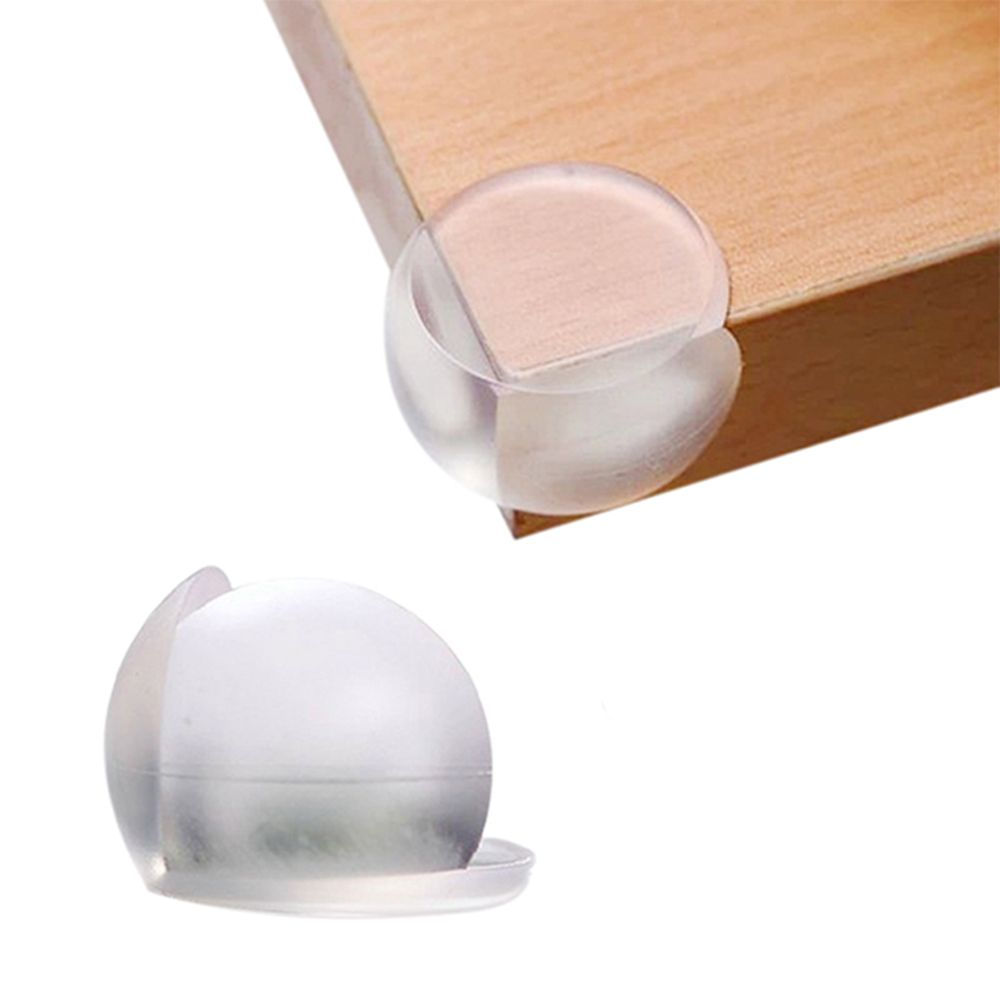 Hot Sale 4 X Table Corner Guard Safety Cushion Protect Baby Ball Shape Soft Transparent Adhesive Desk Corner Guard Protector