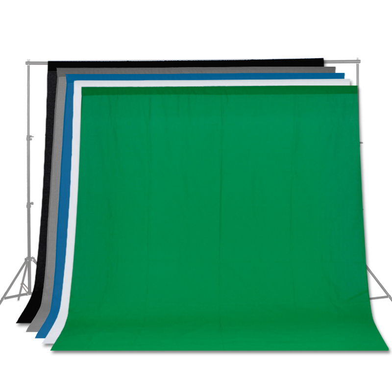Free Shipping Solid Color Backgrounds Green Screen Cotton Muslin Background Photography Backdrop Lighting Studio Chromakey