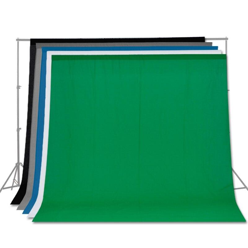 Livraison gratuite fond de couleur unie écran vert coton mousseline fond photographie toile de fond éclairage Studio Chromakey