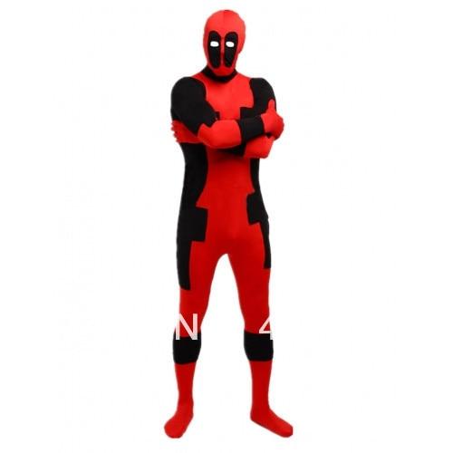 Deadpool kostiumai raudoni ir juodi deadpool kostiumai Helovinas - Karnavaliniai kostiumai - Nuotrauka 2