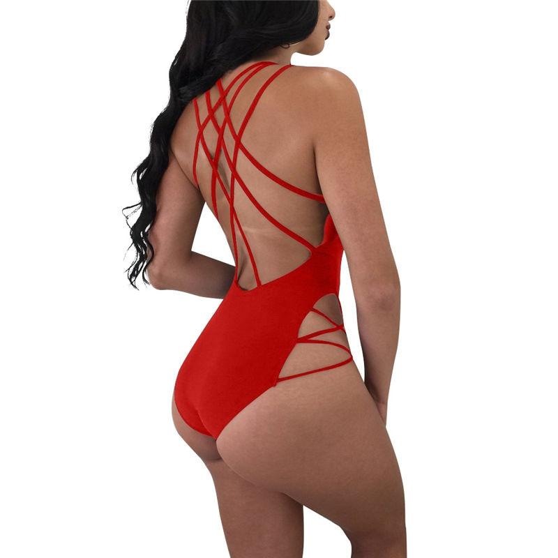 Vigorashely Sexy String Mesh une pièce maillot de bain noir profond col en V maillot de bain monokini femmes brésiliennes 2018 plage maillot de bain