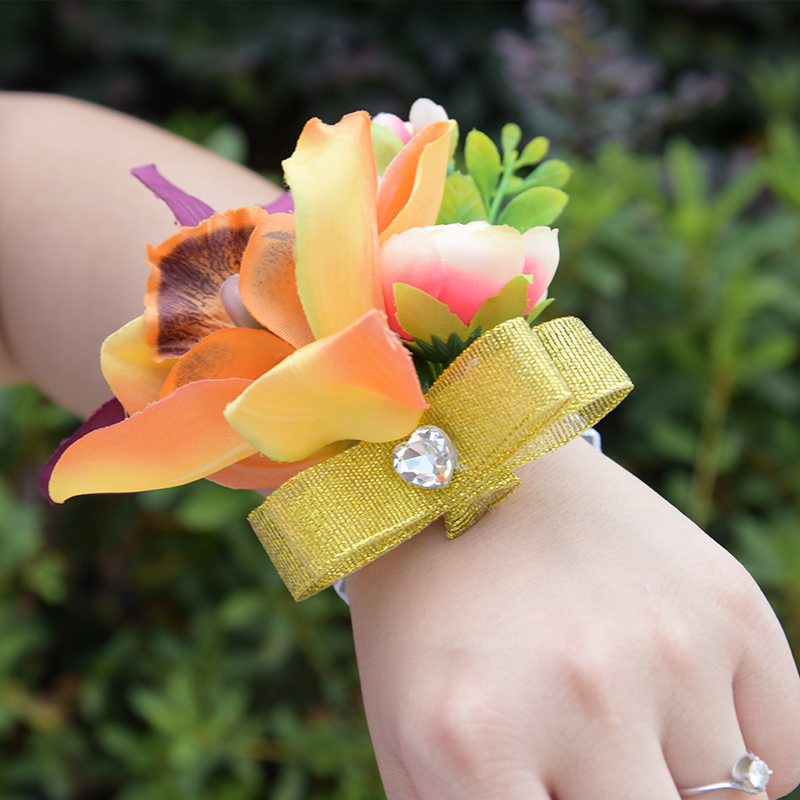 DSC_8586  Romantic Synthetic Wedding ceremony Bouquets Flower 2018 Boutonnieres for Groomsman Man Go well with Bridemaid Wrist Corsage Wedding ceremony Equipment HTB1