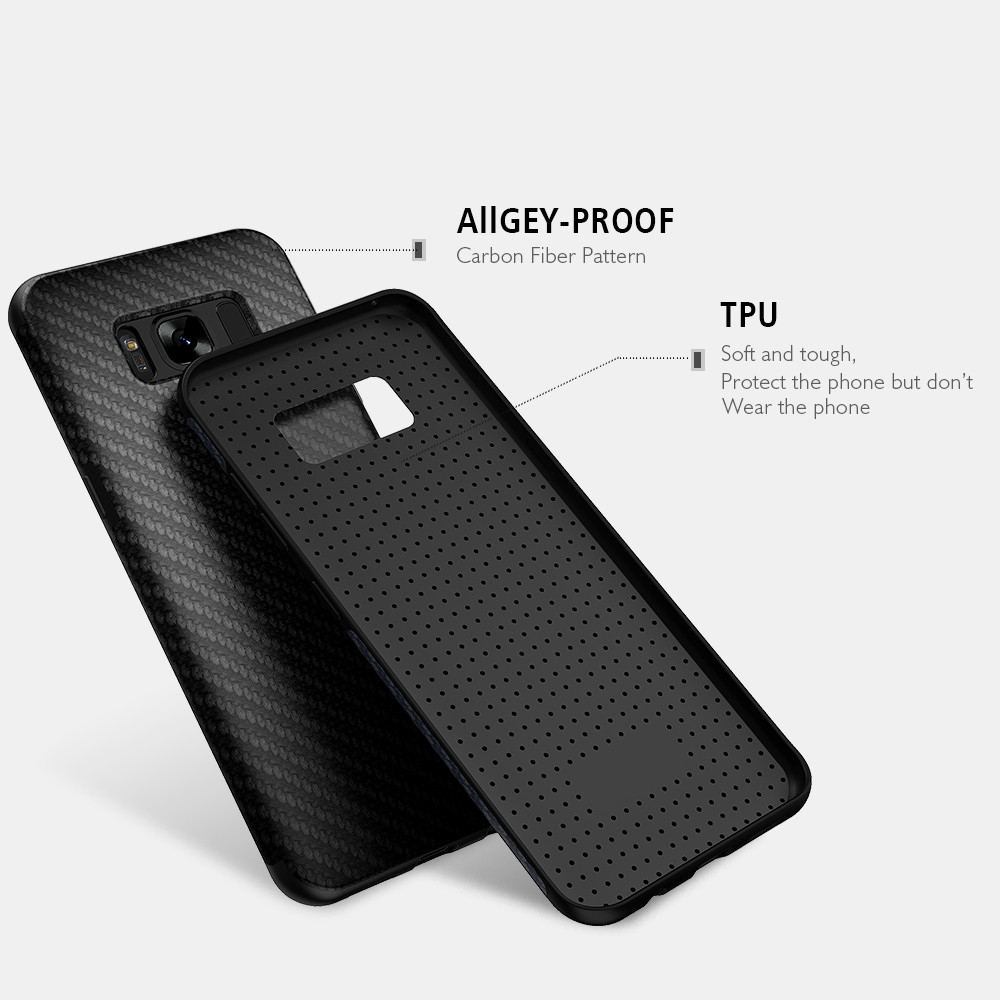 uk availability 7a6d5 9be66 US $4.49 15% OFF|KISSCASE Carbon Fiber Grain Soft Case For Samsung Galaxy  S8 / S8 Plus Retro Leisure Shockproof Cover For Samsung S8+ Coque -in  Fitted ...