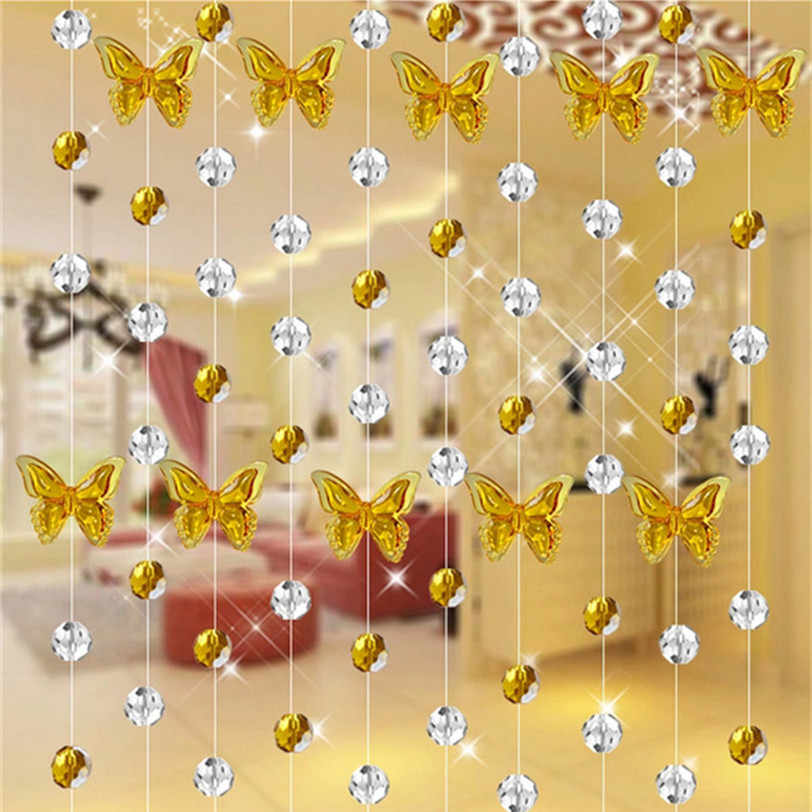 Crystal Glass Bead Curtain Luxury Living Room Bedroom Window Door Wedding Decor Professional Factory price DropShipping