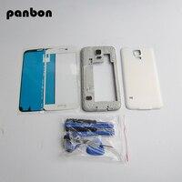 Panbon phụ tùng Thay Thế Cho Samsung Galaxy S5 G900F/M/V/P/T Trung Housing Bezel Khung & back cover & front glass & công c