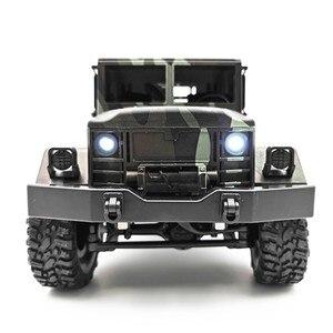 Image 2 - Mn 모델 mn77 1/16 2.4g 6wd rc 자동차 led 라이트 위장 군사 오프로드 rc 크롤러 자동차 원격 제어 트럭 rtr 완구
