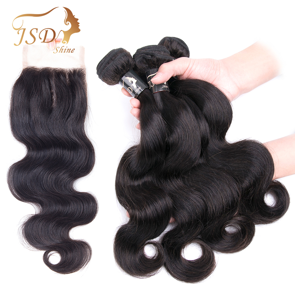 3/4 Bundles With Closure Hair Extensions & Wigs Sweet-Tempered Malaysian Body Wave Bundles With Closure 100% Human Hair Bundles With Lace Closures Non-remy Hair Natural Color The Latest Fashion