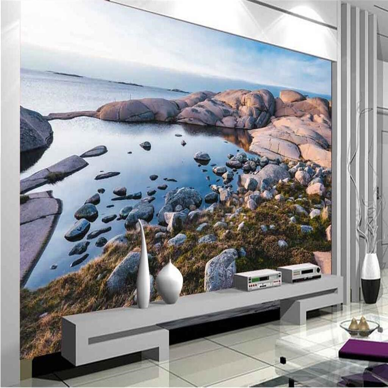 beibehang Custom wallpaper murals Any size photo HD Landscape River Water Living Room Bedroom Background Wall wallpaper