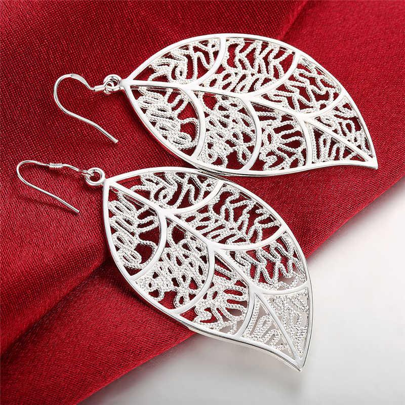 2019 New Arrival Fashion 925 Jewelry Silver Fashion Leaf Earrings For Women Best Gift