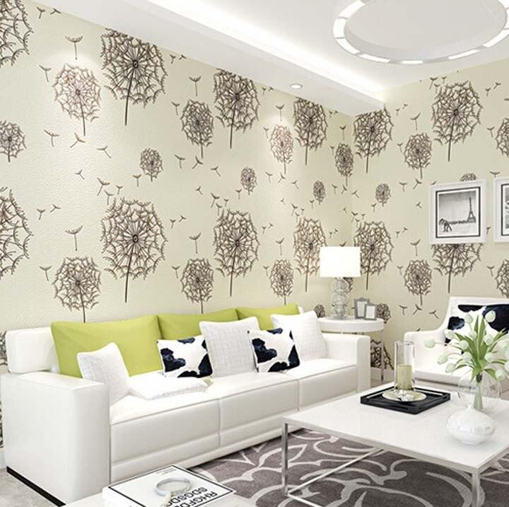 Aliexpresscom Buy Great Wall Romantic Dandelion D Wallpaper - Girls flower bedroom wallpaper