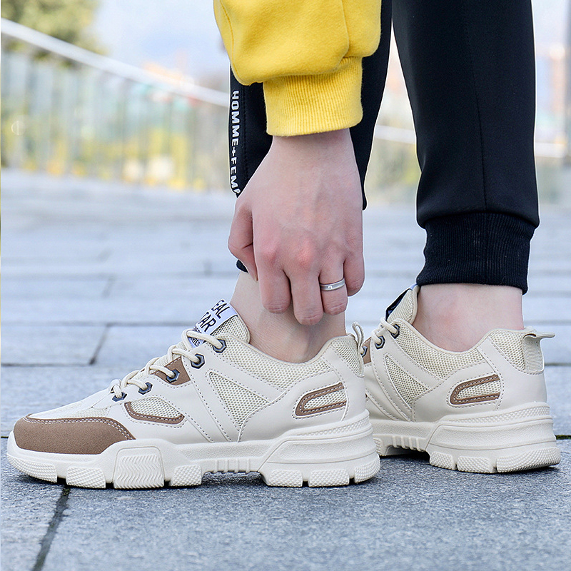 2019 Best Seller High Quality Sport Shoes Breathable Sneakers Men Wear Resistant Walking Sport Shoes Men Soft Sole Work Shoes in Running Shoes from Sports Entertainment