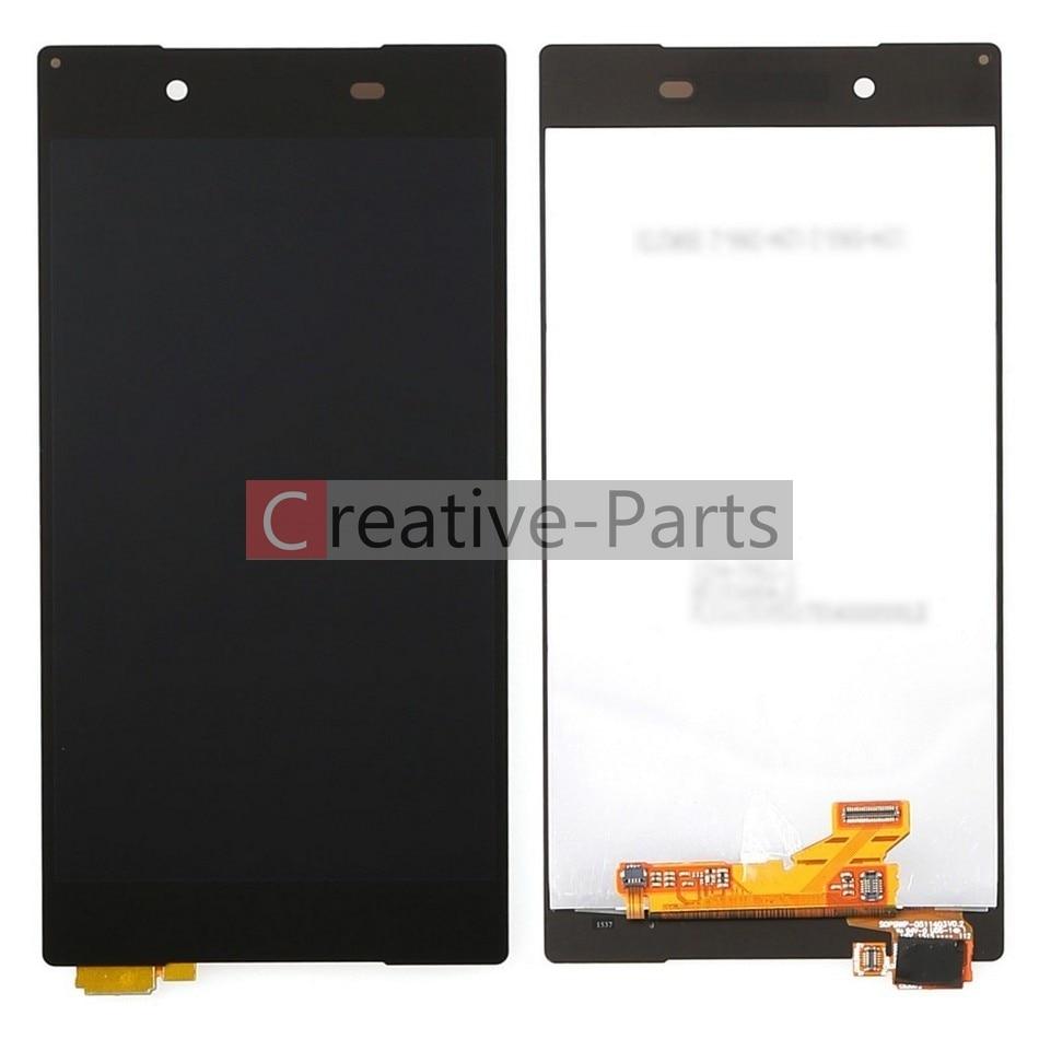 imágenes para Lcd original para sony xperia z5 e6653 color negro con pantalla táctil de cristal digitalizador asamblea piezas de repuesto
