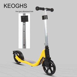 Image 4 - 2018 nuovo modello di bambini per adulti kick scooter DELLUNITÀ di elaborazione di 2 ruote bodybuilding tutto in alluminio giovane assorbimento urbana campus di trasporto