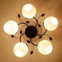 Американский Железный декоративный потолочный лампа Современная гостиная лампа спальня потолочное освещение личность ресторан кафе бар л