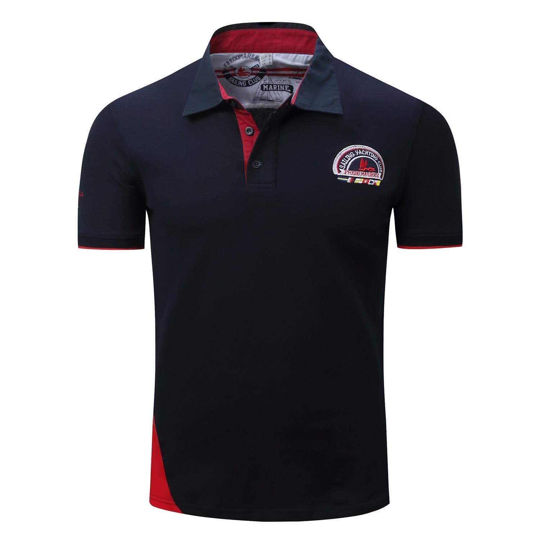 Brand Men's Fashion   Polo   Shirt Patchwork Cotton EUR Size Top Grade Shirt for Men Casual   Polos   Camisa   Polo   Masculino