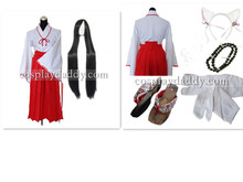 Inuyasha Kikyo Cosplay Costume including necklace+wig+shoes Cosplay Costume Any Size