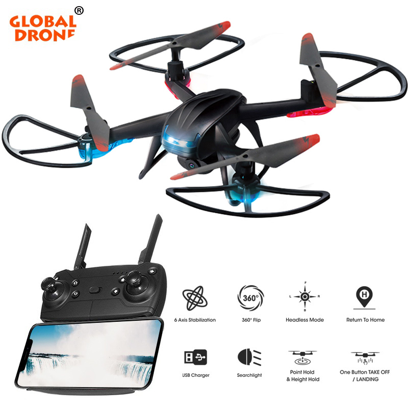 купить Global Drone GW007-3 Drones with Camera HD Altitude Hold RC Helicopter Mini Drone Wifi FPV Dron Quadrocopter VS SYMA X5C онлайн