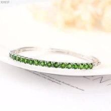 цена gemstone jewelry factory wholesale white gold 925 sterling silver natural green tourmaline adjustable bracelet for women онлайн в 2017 году