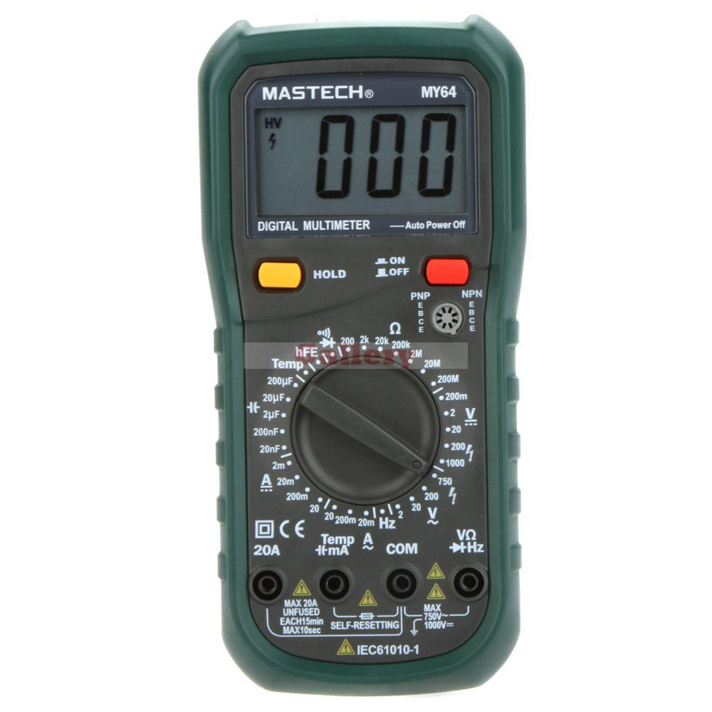 My64 Digital Multimeter Dmm Frequency Capacitance Temperature Professional Meter Tester W Hfe Test digital multimeter mastech ms8264 dmm temperature capacitance tester multimeter handheld ammeter multitester