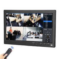 10.1 polegada lcd monitor hd completo ips 1920*1200 display 2 canais de entrada vídeo tela colorida com bnc/av/vga/hdmi mini pequeno monitor
