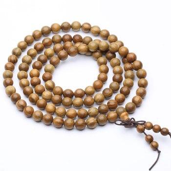 bracelet bouddhiste mala en bois
