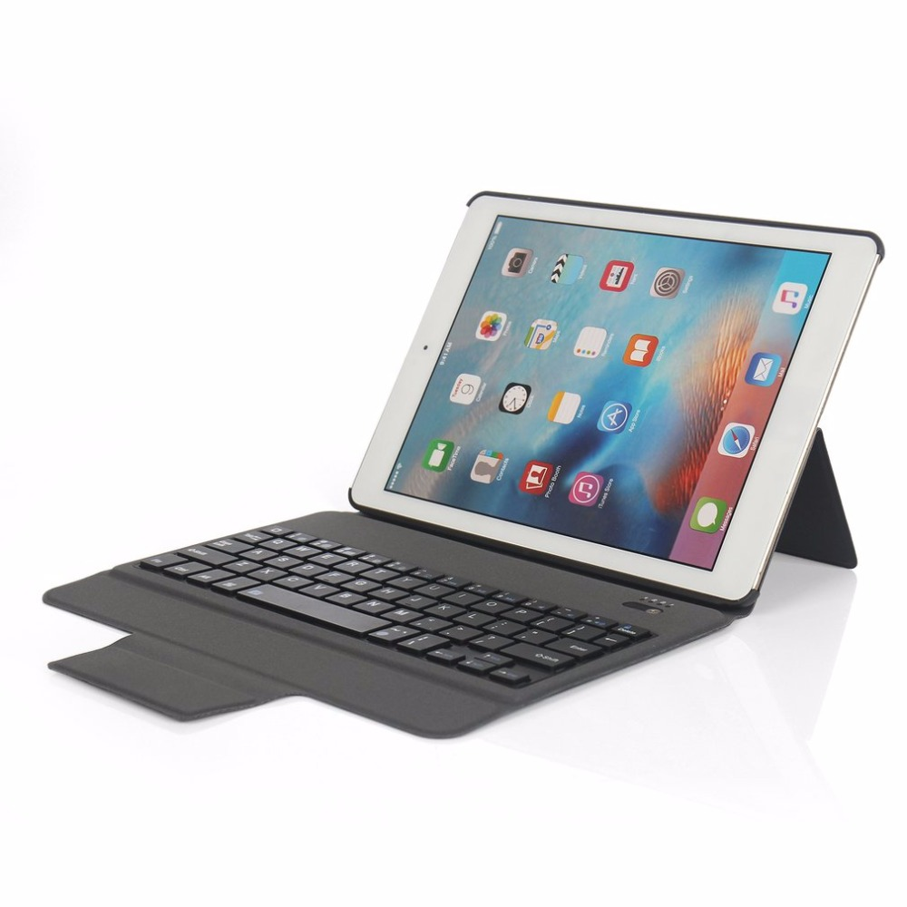 Ultra Thin Wireless Bluetooth Keyboard Case Compact Size Full Body Protective Keyboard Case Suitable For IPad