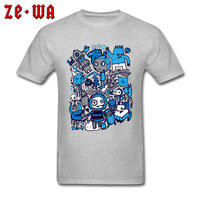 2018 New T shirt Men Funny Cartoon T Shirt Grey Cotton Tshirt Custom Kawaii Tops Harajuku Tee Shirts Short Sleeve Clothes XS