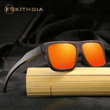 KITHDIA Handmade Polarized Bamboo Wooden Sunglasses Brand Designer Mirror Sun Glasses Case Oculos de sol masculino #KD029 цена 2017