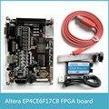 Высокое Качество EP4CE6F17C8 EP4CE NIOS FPGA Доска + USB Blaster Altera FPGA Развития Борту с 256 М SDRAM 65536 цвет VGA