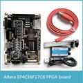 Alta Calidad EP4CE Fpga + Blaster USB Altera NIOS EP4CE6F17C8 FPGA Placa de Desarrollo con 256 M SDRAM 65536 color VGA