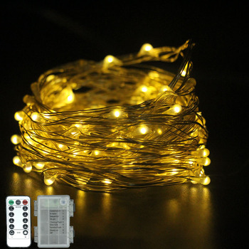 5 M/10 M LED String Light Christmas Decoration Waterproof Copper Wire Fairy Light AA Battery Powered 8 Mode  with Remote Control m carcassi 8 divertimenti op 25