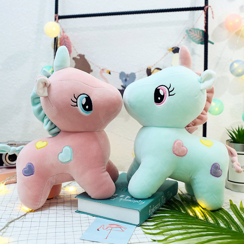 20/22cm Plush Toys Soft Unicorn Doll Appease Sleeping Pillow Kids Rainbow Horse Toys For Children Christmas Birthday Gift