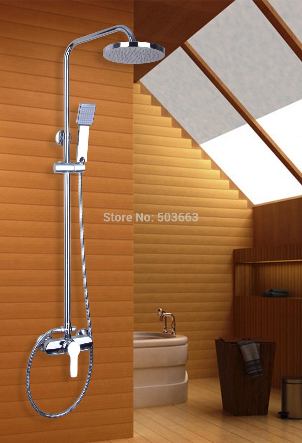 bathroom luxury shower set 53607 New 8\'\'Wall Mounted Round Tub ...