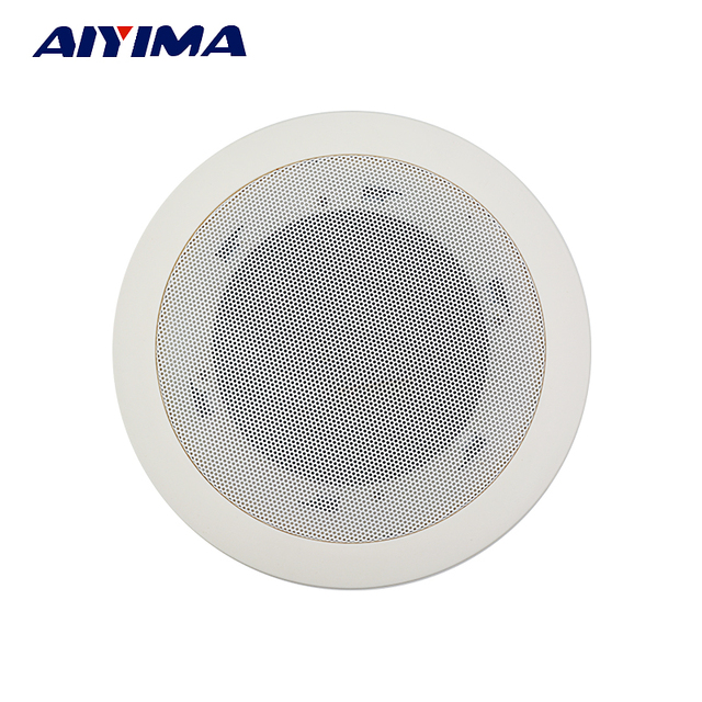 AIYIMA 2Pcs 5.5 Inch Ceiling Audio Sound Speaker Driver Public Broadcasting Music Ceiling Radio Speakers DIY Home Theater