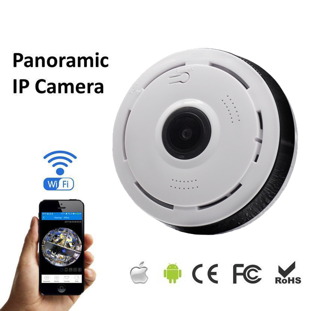Wireless 360 Degree Panorama Camera Wifi 960p Hd Ip Camera